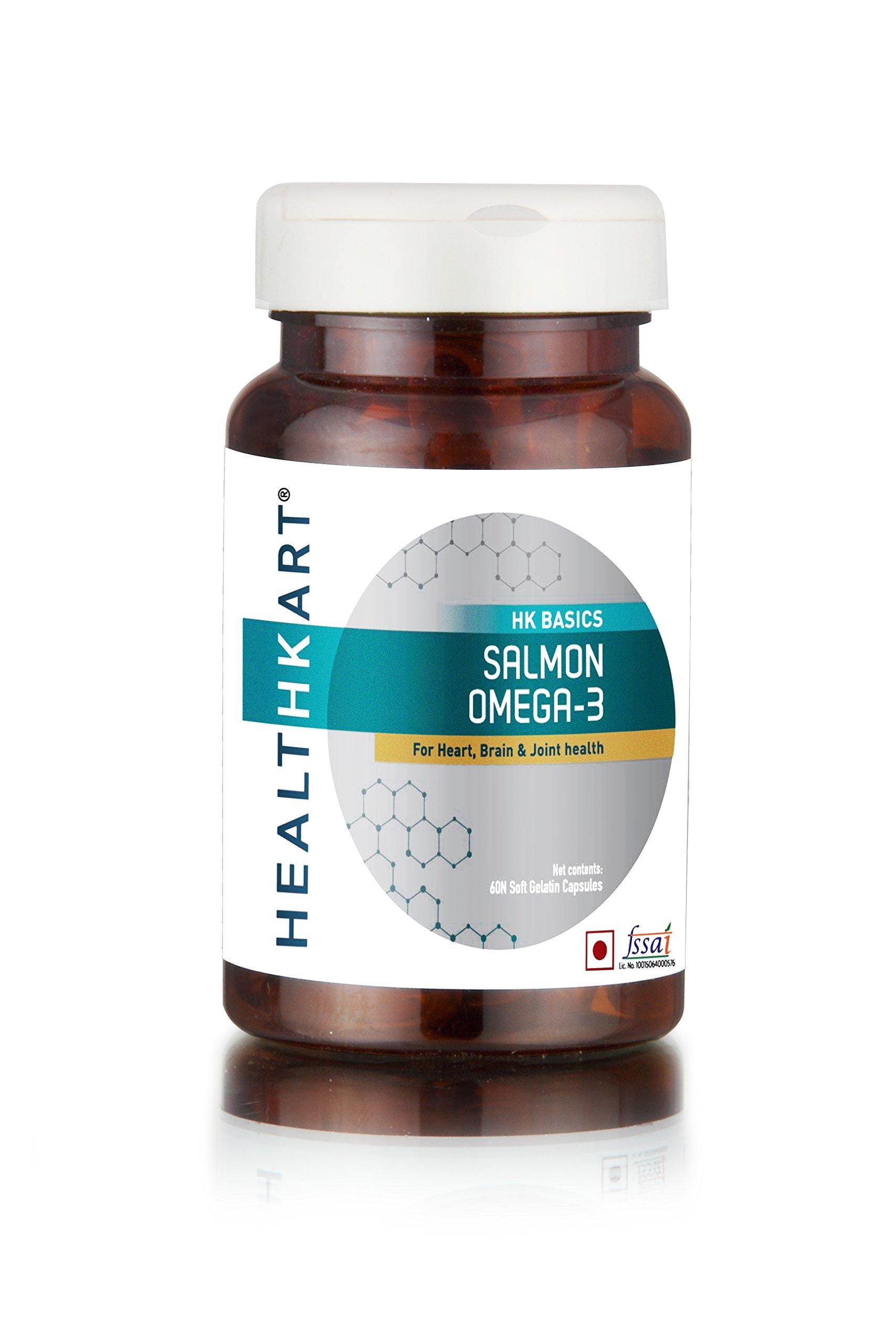 HealthKart Salmon Omega-3, 1000mg - 60 Capsules product image