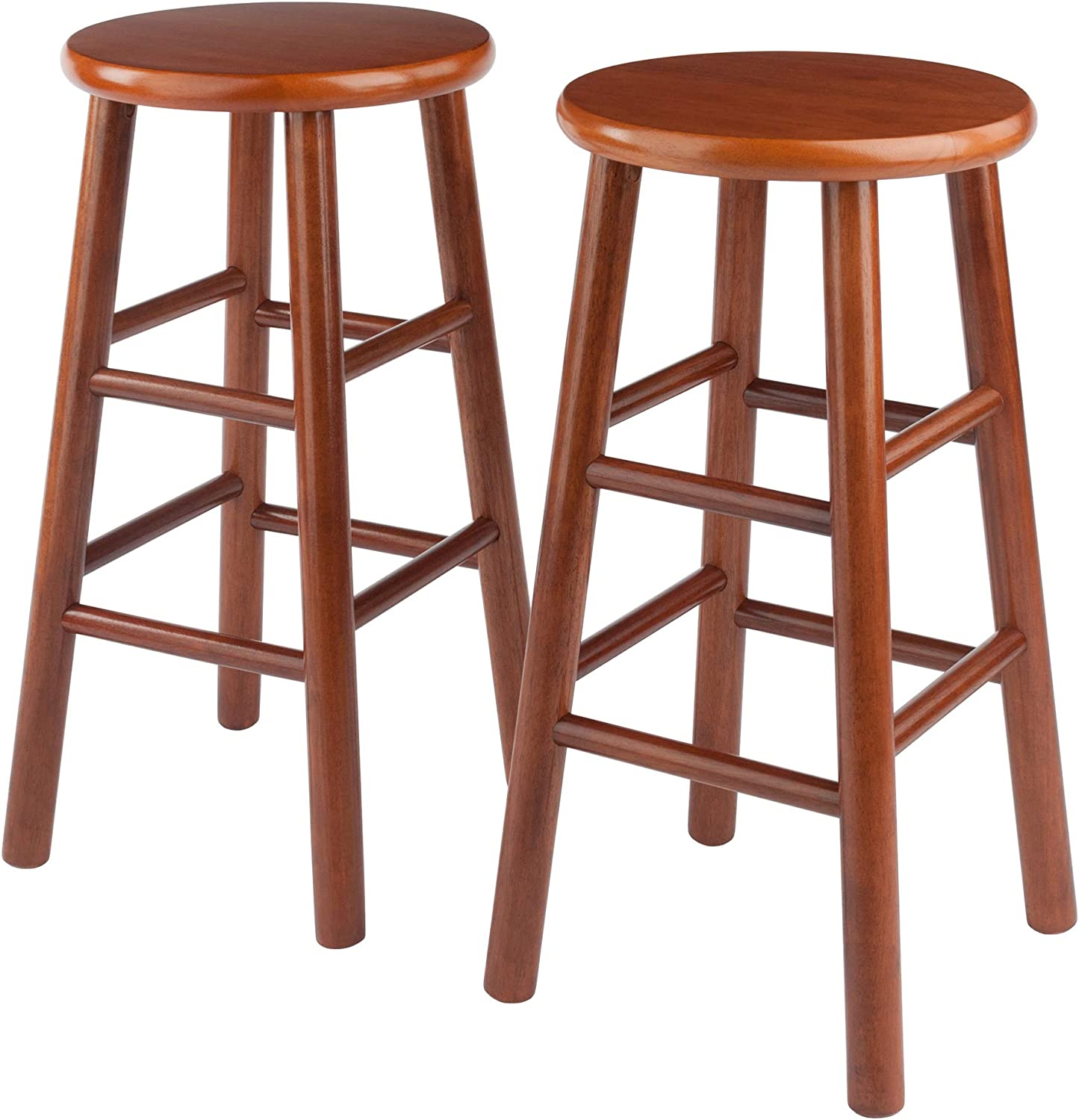 Winsome Wood Tabby Stool 24 Inch Cherry Furniture Decor