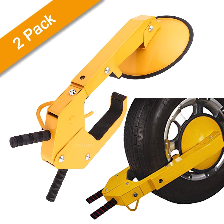 Oanon Wheel Lock Clamp Boot Tire Claw Auto Car Truck ATV, RV, Boat Trailers Heavy Duty Secure (2 Pack) by Oanon