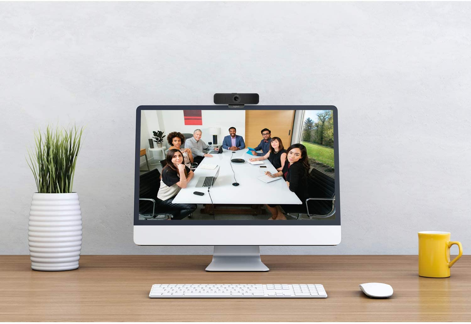 Home office Skype Conferenc Meeting Online