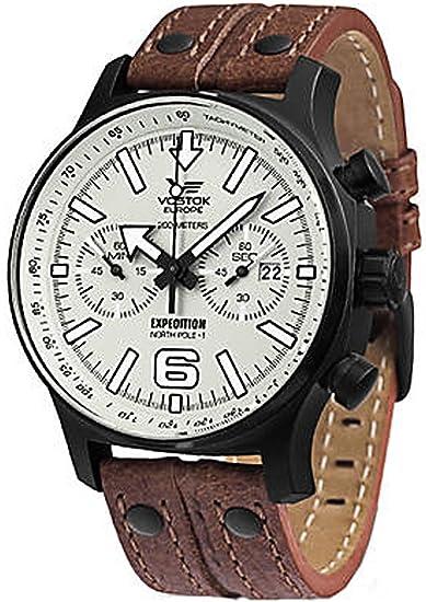 Vostok Europe 6S21-5954200 - Reloj, correa de cuero