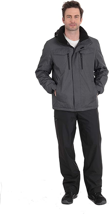 Amazon Com Zeroxposur Mens Snow Pants Fleece Lined Waterproof Snowboard Pants Black X Large Clothing
