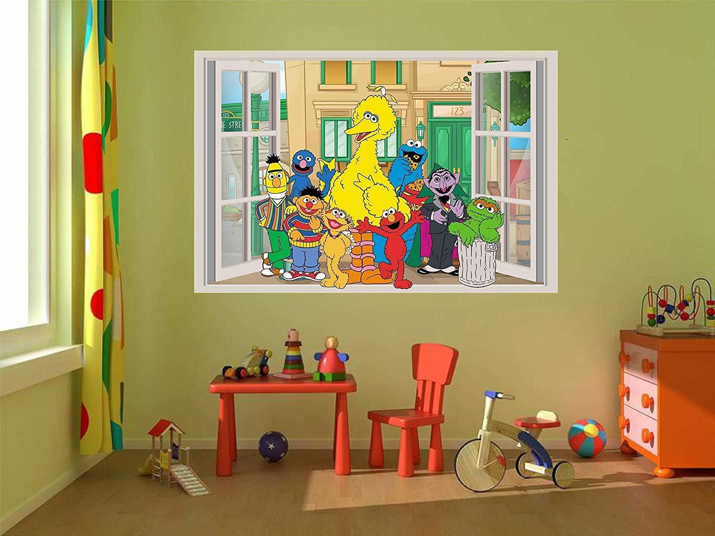 Elmo sesame street kids room single toile murale art photo print