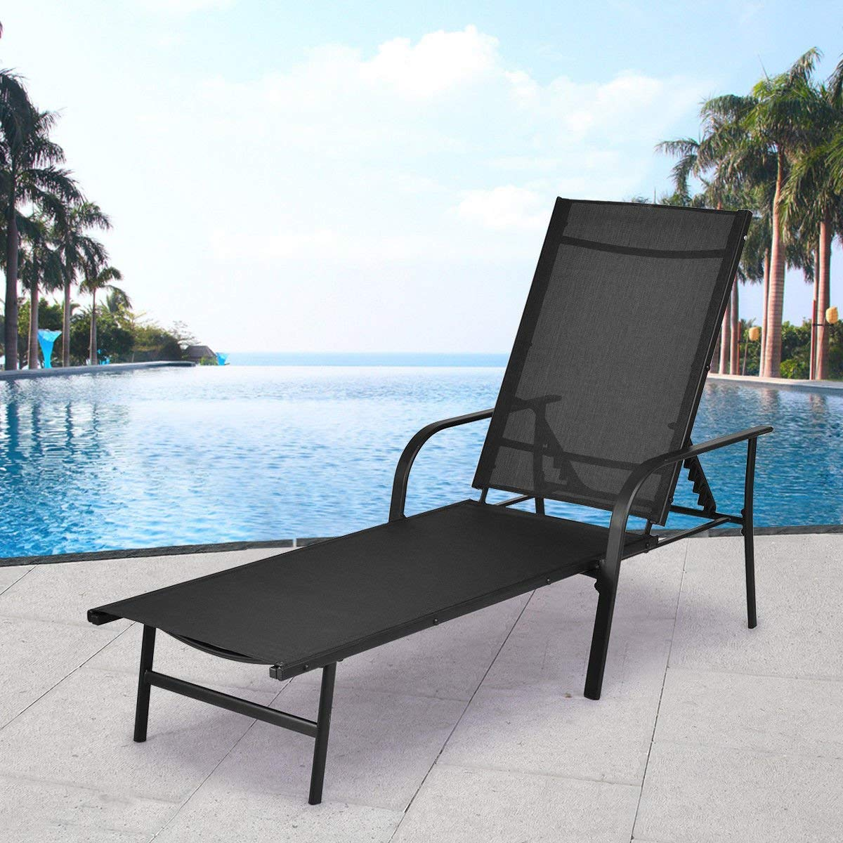 Amazon.com: Giantex - Silla reclinable para patio con ...