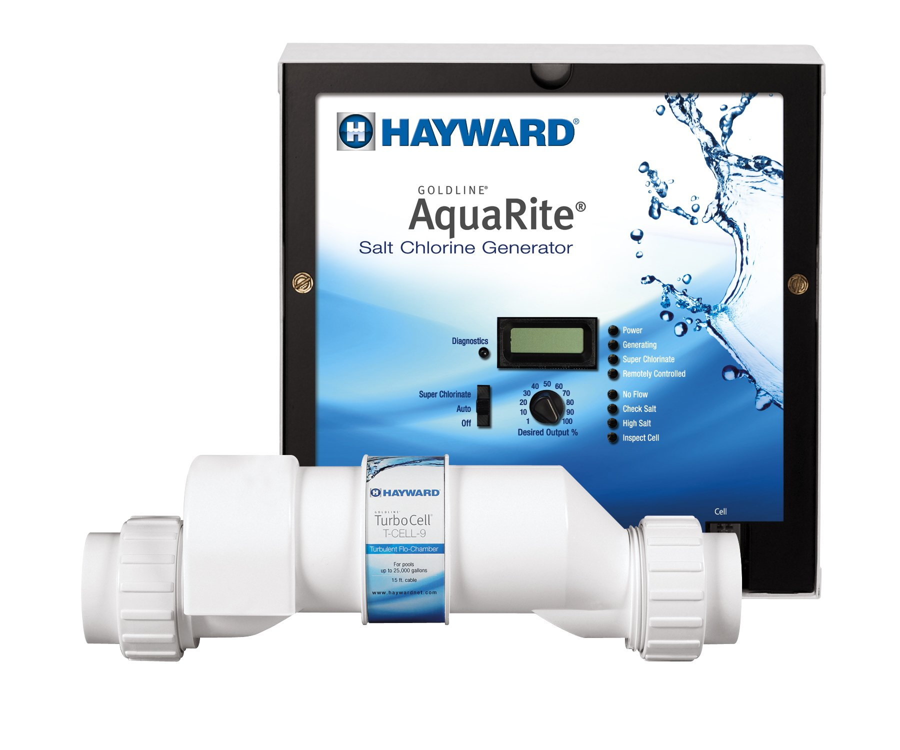 Hayward Goldline AQR9 AquaRite Electronic Salt Chlorination System for In-Ground Pools , 25,000-Gallon Cell