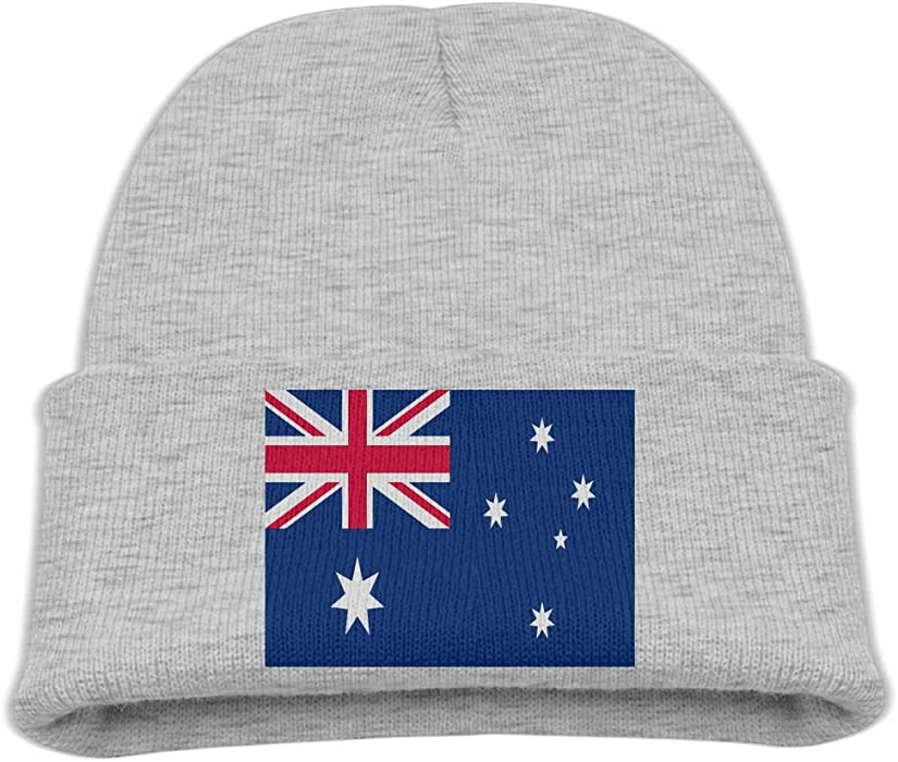 ebe66555b2c16f Amazon.com: ZWZ Australia Flag Kid's Hats Winter Funny Soft Knit Beanie Cap  children Unisex: Clothing