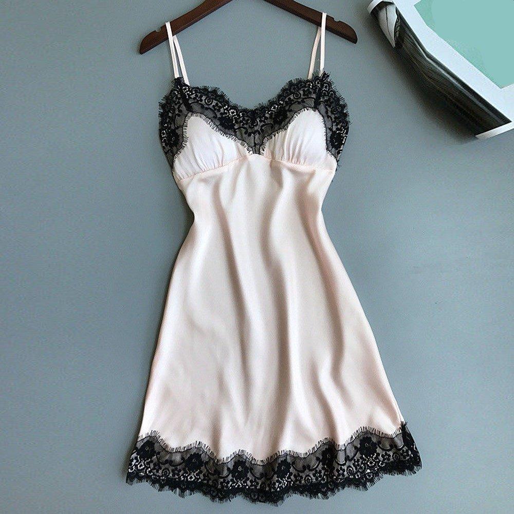 Amazon.com : Xiaojmake Sleepwear Womens Chemise Nightgown ...