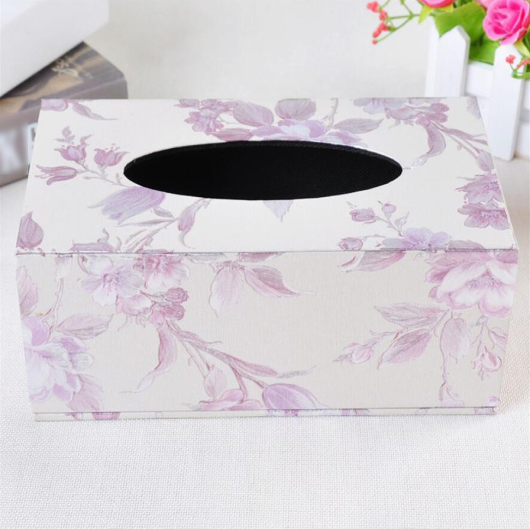 LaaLaa Bath accessories tissue box,leather Multicolor tissue box,restaurant Tissue Holder Box Hotel Home Creativity tissue box,A5