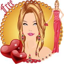 Jour de la Saint-Valentin Dress Up Girl