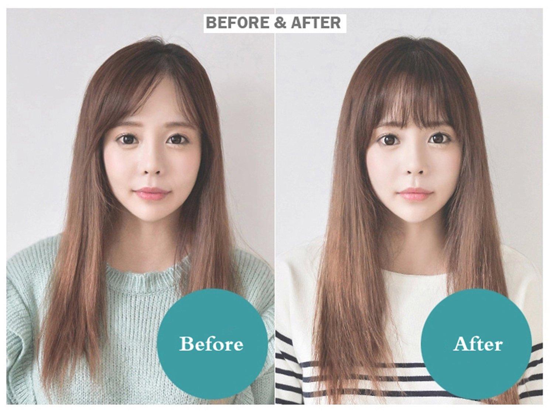 Amazon Smilco Mini Ultra Thin Fake Hair Bangs Extensions Clip