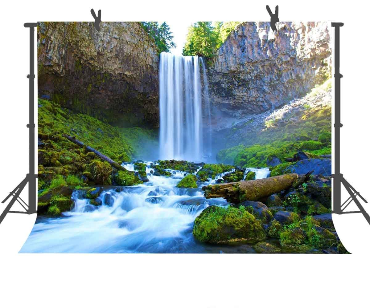 7x5ft Pretty Natural Waterfall Photography Backdrop Studio Photo Props Room Mural FUERMOR Background A969