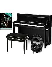 Classic Cantabile UP-1 SH E-Piano Deluxe Set (inkl. Pianobank, Kopfhörer und Klavierschule, Dämpfersimulation, MP3-Recorder, Mic In, OLED Display, 40 hochwertige Sounds, 3 Pedale) schwarz hochglanz