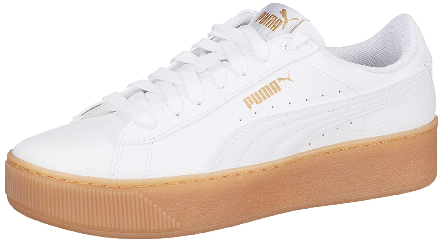 3aa689d434e1c3 Puma Vikky Platform VT White  Buy Online at Low Prices in India - Amazon.in