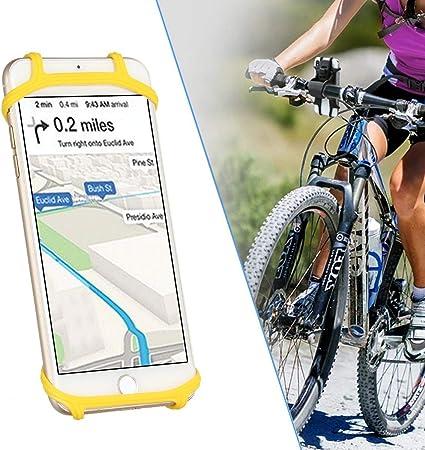 WooyMoo Universal Bike Phone Mount, Soporte de teléfono Celular de la Bicicleta Desmontable Silicona teléfono Celular Soporte de la Motocicleta for 4 a 6.3 Pulgadas Smartphone: Amazon.es: Hogar