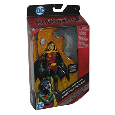 DC Comics Multiverse Damian Wayne Robin (Build King Shark) Action Figure 6 Inches: Toys & Games
