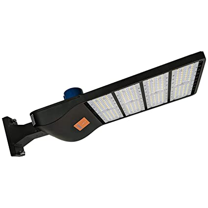 EverWatt 300W LED Outdoor Parking Lot Light with Photocell Sensor (Shoe Box Pole Lights)