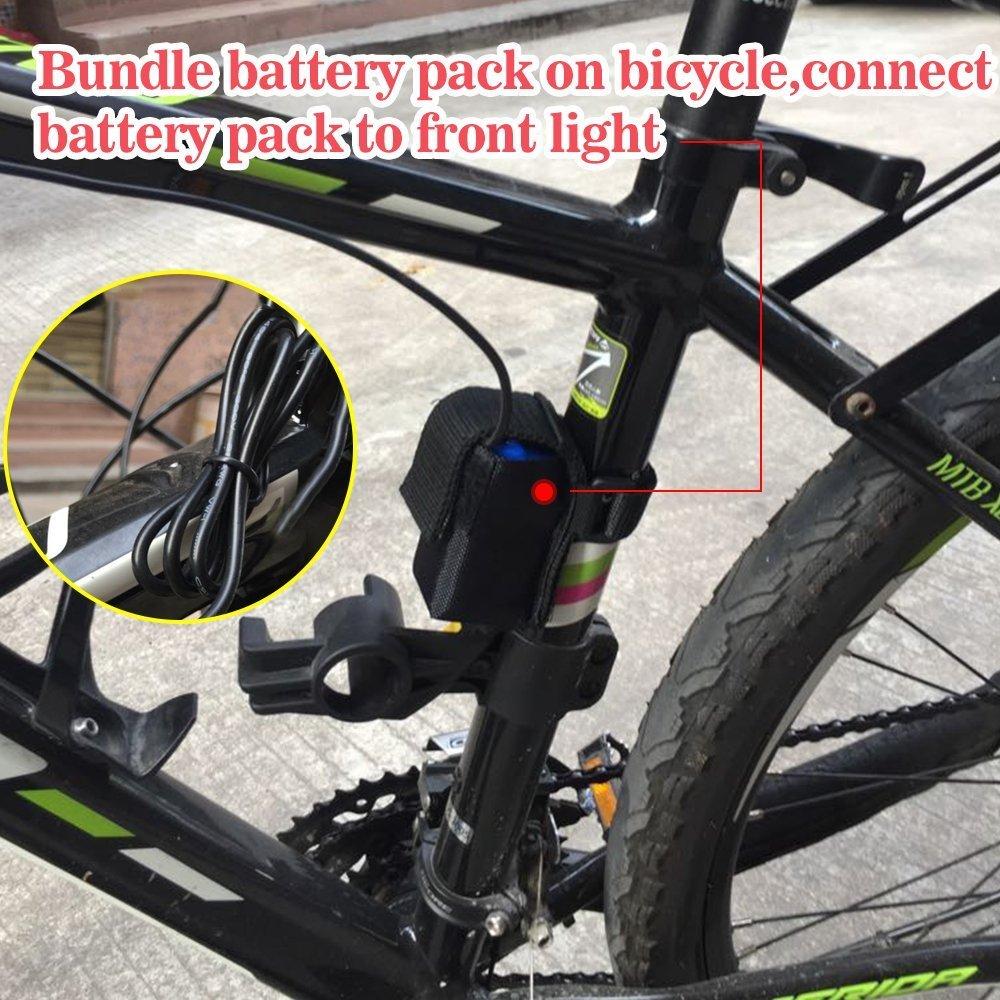 d6379062857 LED Luz Delantera Bicicleta Impermeable 5 Modos Luces Brillante 1200 Lumens  Faros Headlight Linterna Frontales CREE XML T6 Lámpara de Bicicleta con  Batería ...