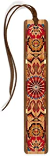 product image for Personalized Handmade Wooden Bookmark - Kaleidoscope Design on Cherry with Brown Suede Tassel - Search B017TI5UBY to See Non Personalized Version.