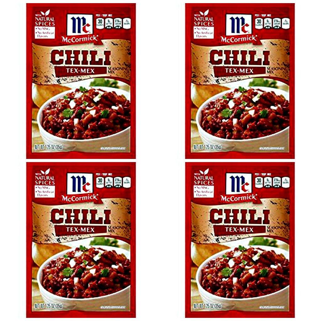 McCormick Tex Mex Chili Seasoning Mix, 1.25 oz (Pack of 4)