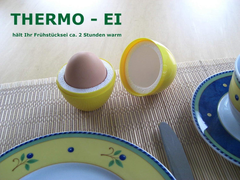 THERMO-EI zum Warmhalten von Frühstückseiern 4-er Set 4 Farben zur Auswahl