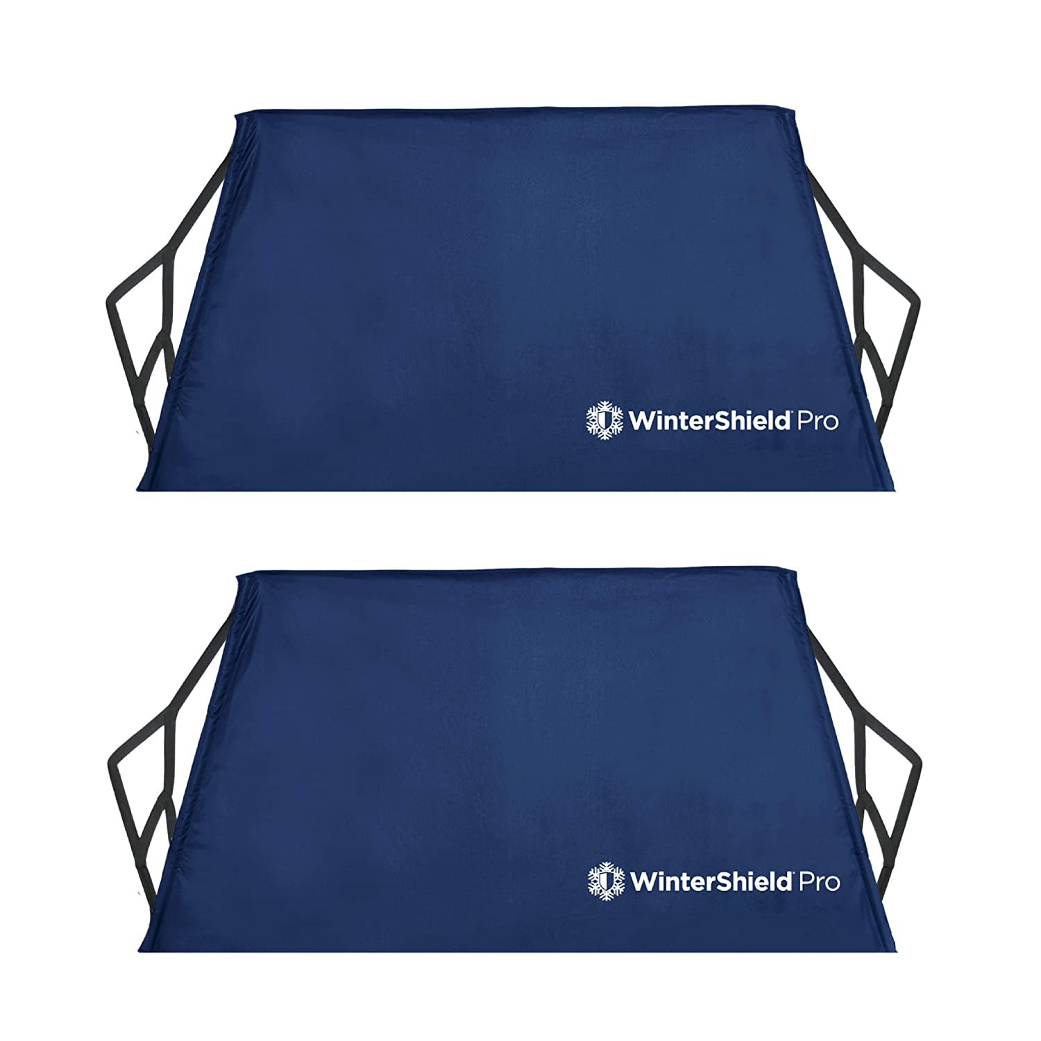 WinterShield PRO (2 Pack) | Winter Windshield Cover with Quick-Dry Storage Sleeve, Protects Essential Viewing Area from Snow, Ice and Frost. (60' x 32') Ice and Frost. (60 x 32)