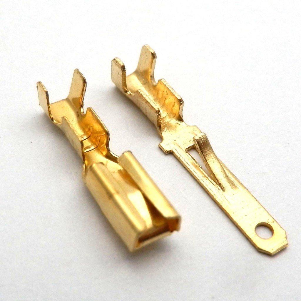 yuns huo 10/x Bo/îtier pour connecteur 6/broches 2,8/mm moto Roller Cosses de fiches plates connecteur plat