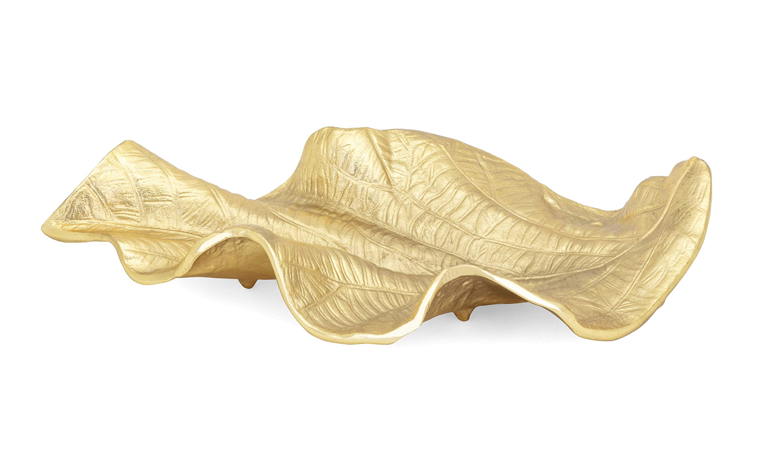 Imax 75119 Leaf Trays Gold by Imax