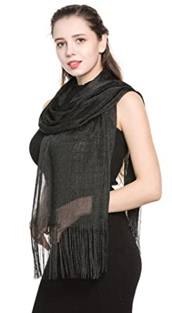 World of Shawls Scarf Wrap for Evening Dresses - Sheer Bridal Womens Scarves for Prom,