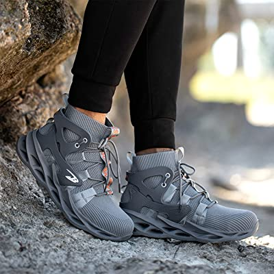Mens Lightweight Safety Shoes Trainers Steel Toe Work Boots Hiking Sneakers C
