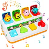 baccow Baby Toys 6 to 12-18 Months, Musical Pop-up Toys for 9 Months 1 Year Old Boys Girls Gifts Toddler Infant Toys