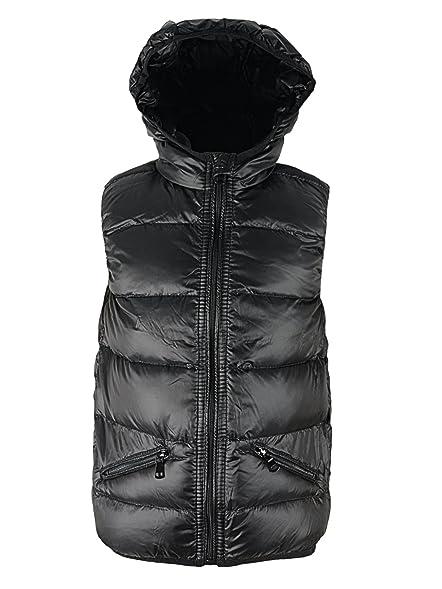 1631c8ec544 Girls' Boy' Puffer Down Vest hooded Zipper Waist Coat Kids Winter Warm  Lightweight Solid