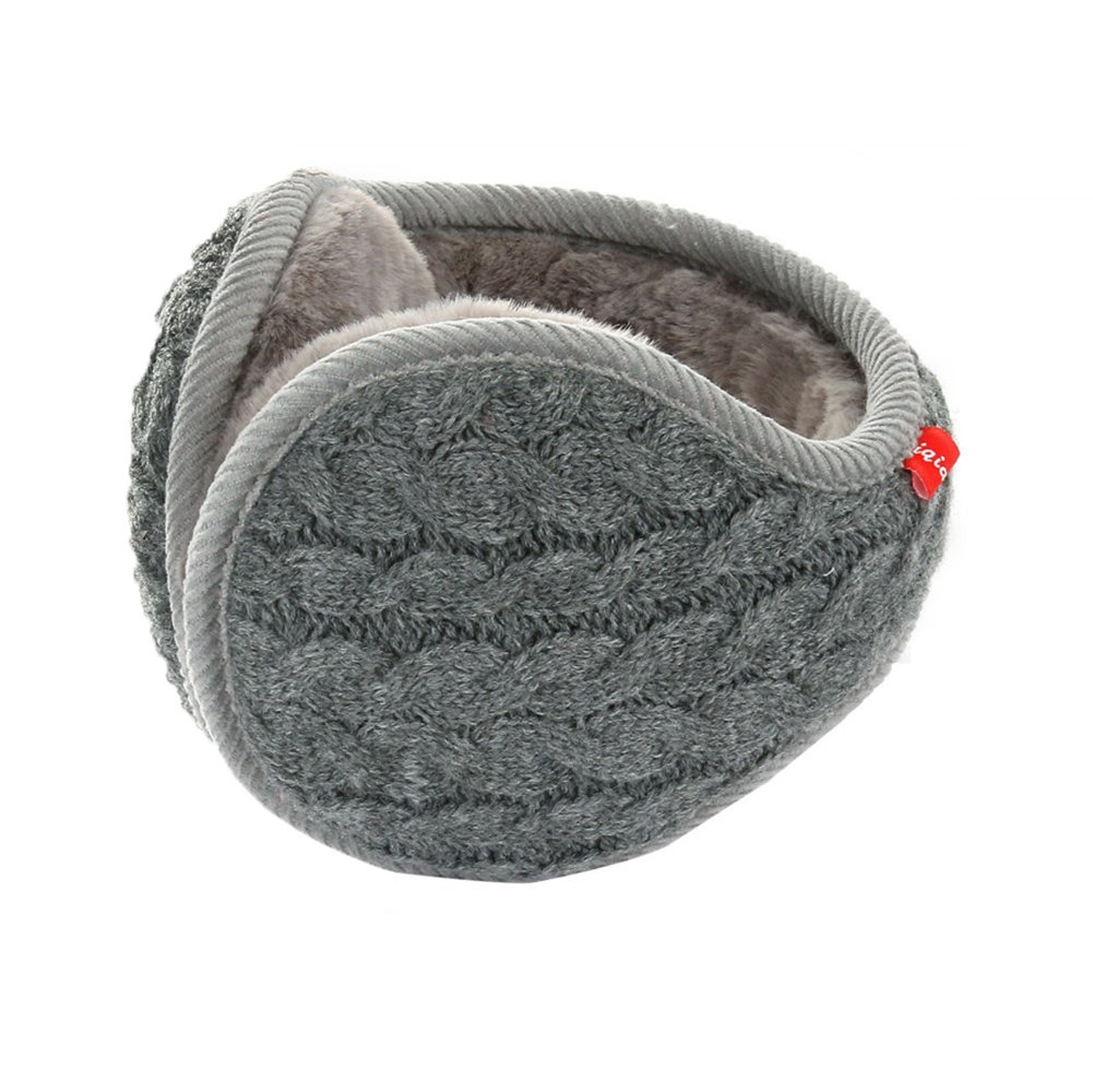 Winter Knit Ear Warmers for Women Foldable Unisex EZ004-Black