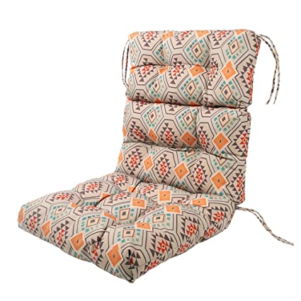 LNC Tufted Indoor Seat Cushions Outdoor Cushions Patio High Back Chair  Cushion Orange Aztec - Amazon.com : LNC Tufted Indoor Seat Cushions Outdoor Cushions Patio