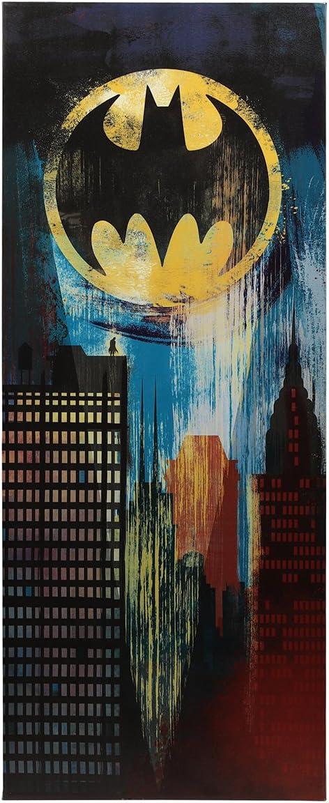 Open Road Brands Bat Signal Over Gotham City Canvas Wall Decor