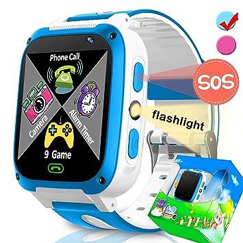 TURNMEON Juego Relojes Inteligentes para niñas Regalos de cumpleaños de Navidad con Ranura para Tarjetas SIM Llamadas Reloj Despertador para iOS Android ...