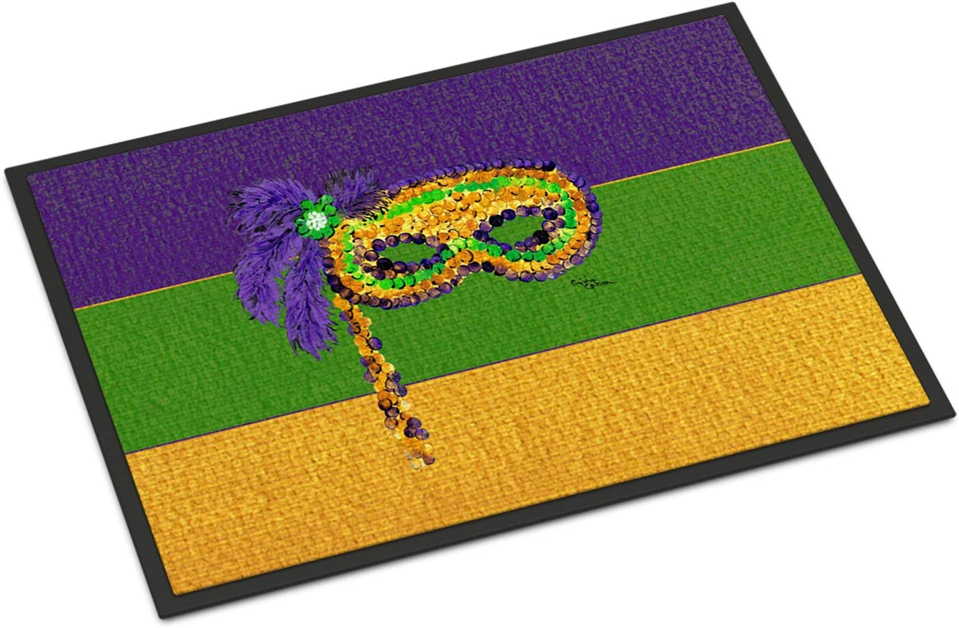 Caroline s Treasures 8384MAT Mardi Gras Indoor or Outdoor Doormat, 18 x 27 , Multicolor