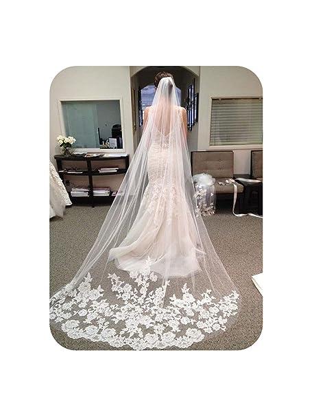 Wedding Accessories 2019 Appliques Chapel Veil 3 M White