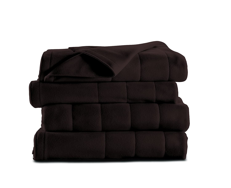 Sunbeam Heated Blanket | Microplush, 10 Heat Settings, Walnut, Queen
