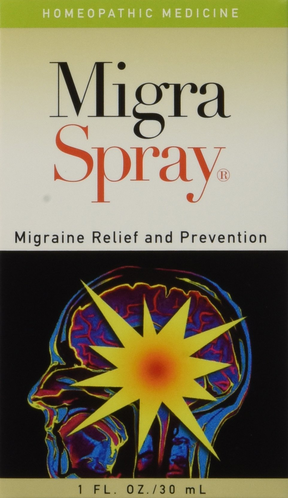 MigraSpray ~ All Natural Migraine Relief & Prevention, 1oz/30ml by Naturewell