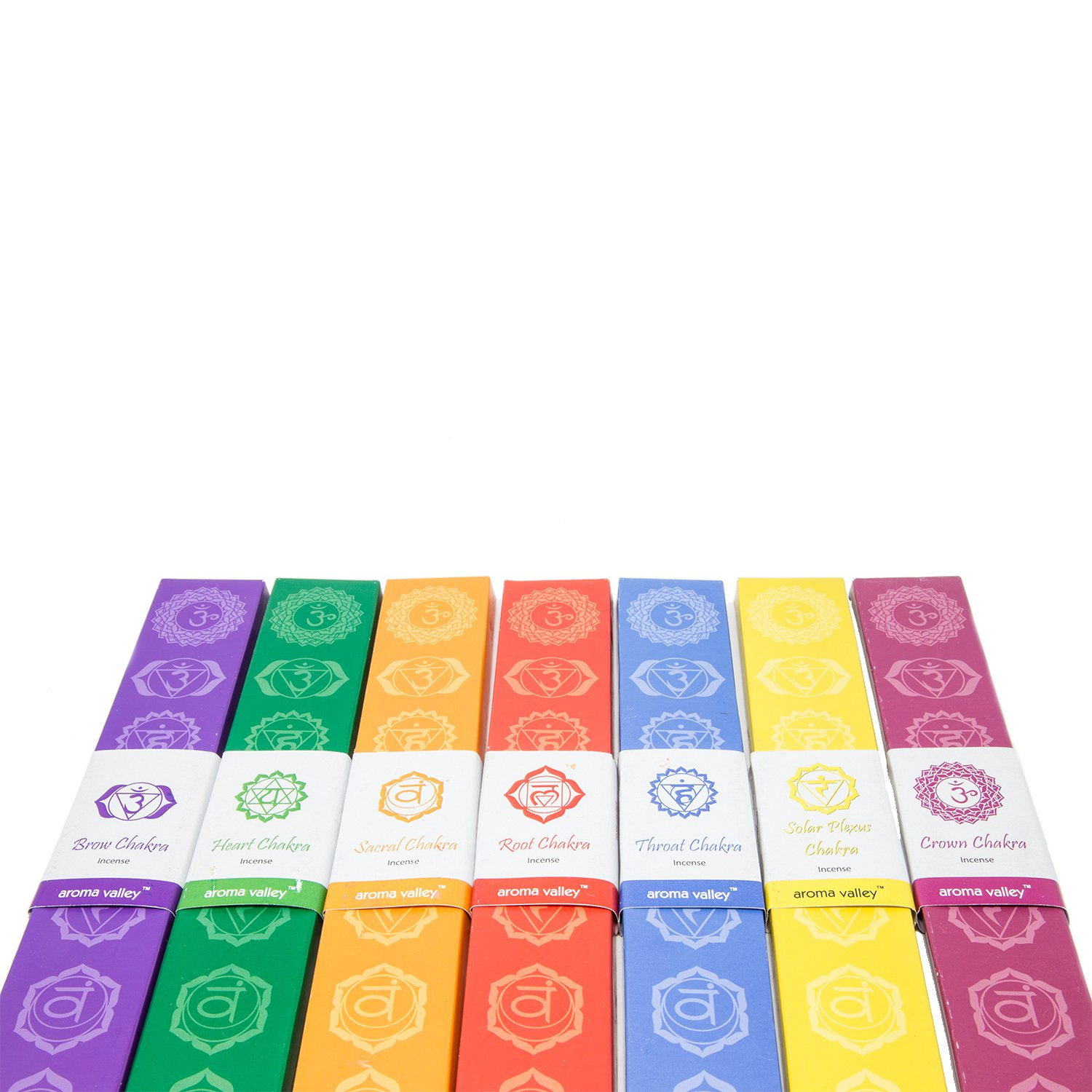 Eco Friendly Organic Handmade 7 Chakras Aroma Incense Wands 10 Incense Sticks in Each Pack Perfect for Meditation Relaxation Healing