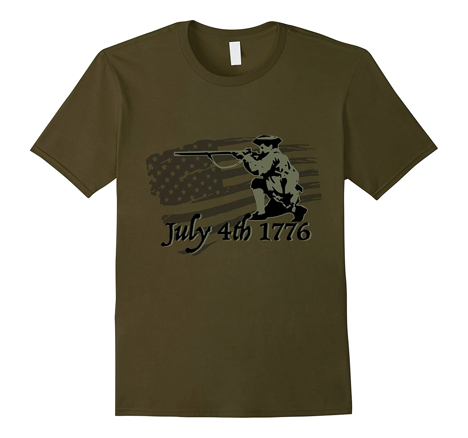 Independence day 4th July 1776 revolution tshirt odg subdued-Vaci