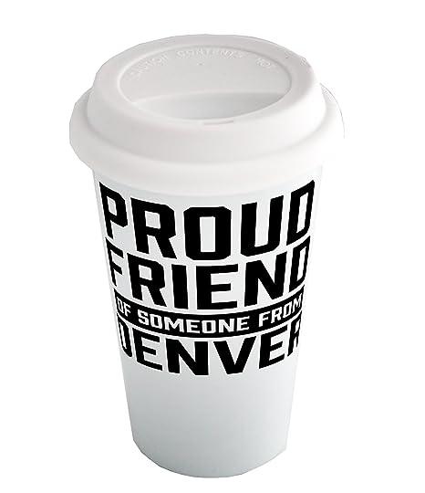Orgullosos amigo de alguien de Denver Shotglass con Golden ...