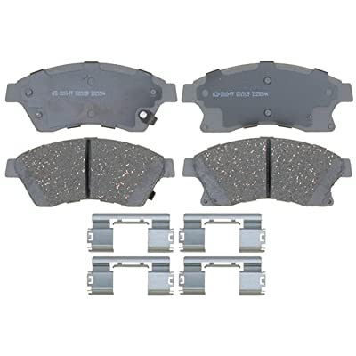 ACDelco 14D1522CH Advantage Ceramic Front Disc Brake Pad Set with Hardware: Automotive