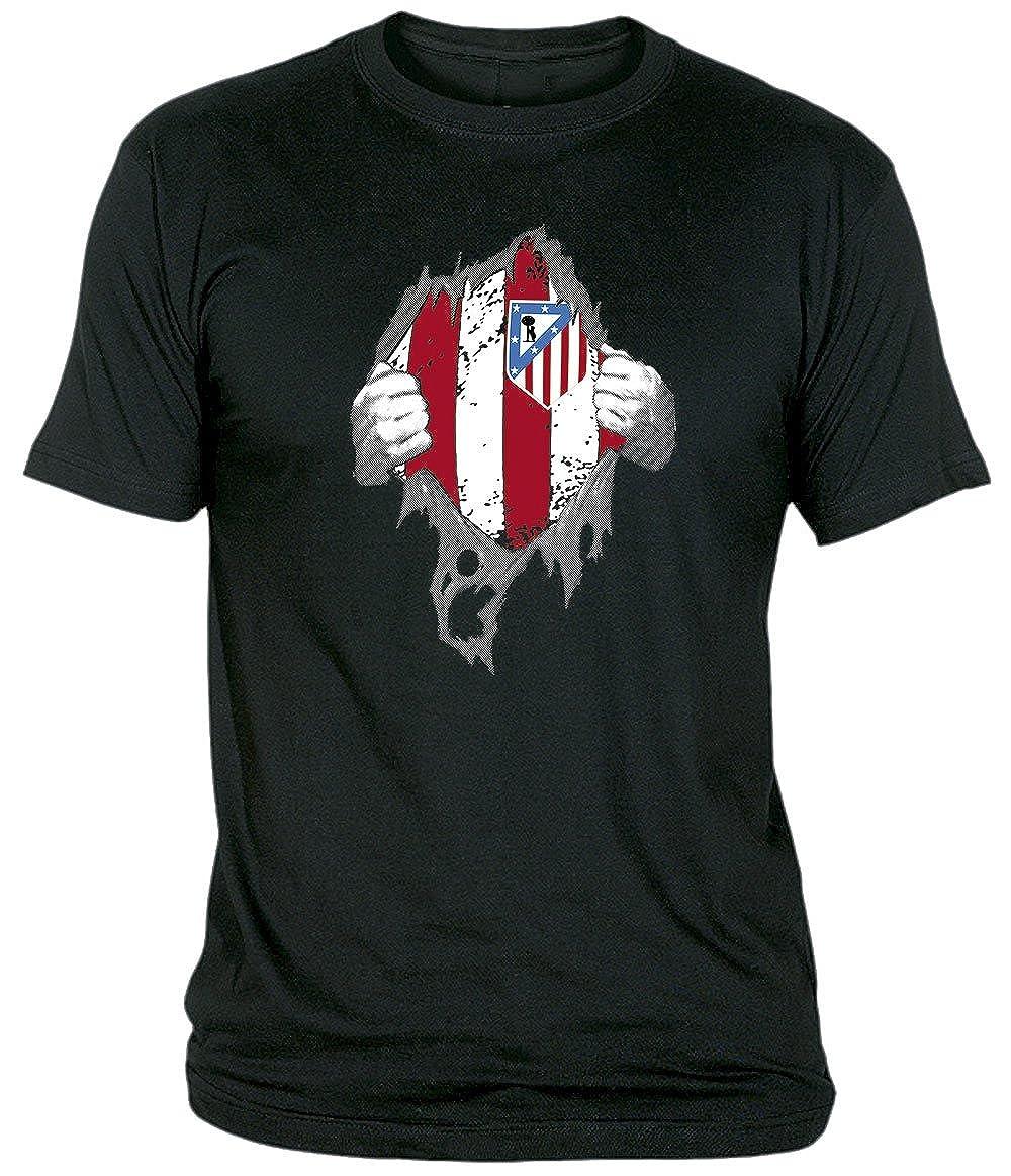 Desconocido Camiseta El Atleti En El Corazón Adulto/niño Camisetas del Atleti colchoneras ATM rojiblanco: Amazon.es: Ropa y accesorios