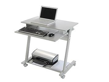 Rocada 9100 bureau pour imprimante et ordinateur gris: amazon.fr