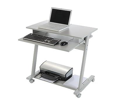 Rocada bureau pour imprimante et ordinateur gris amazon