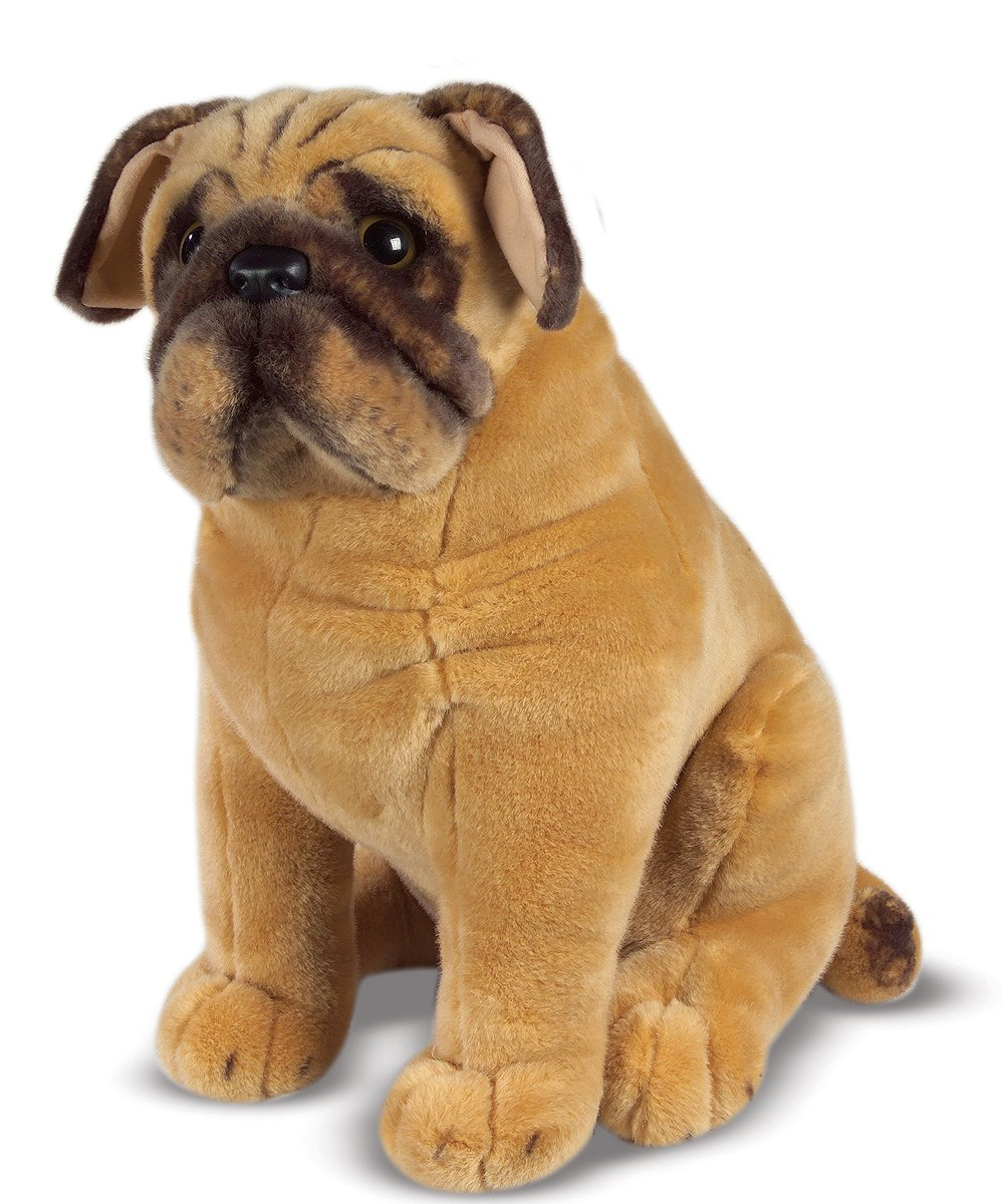 melissa u0026 doug pug dog lifelike stuffed animal melissa u0026 doug