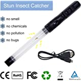 Rechargeable Spider Stink Bug Catcher - Insects Stink Bugs Bedbugs Spider Vacuum Catcher Sucker Pest Repellents Pest Control with LED Light USB Recharger Great Toy for Kids Reach to Coner Work at Nigh