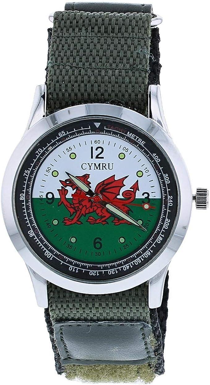 Reloj Boxx Bandera Escocesa Analogo con Pulsera de Velcro: Amazon.es: Relojes