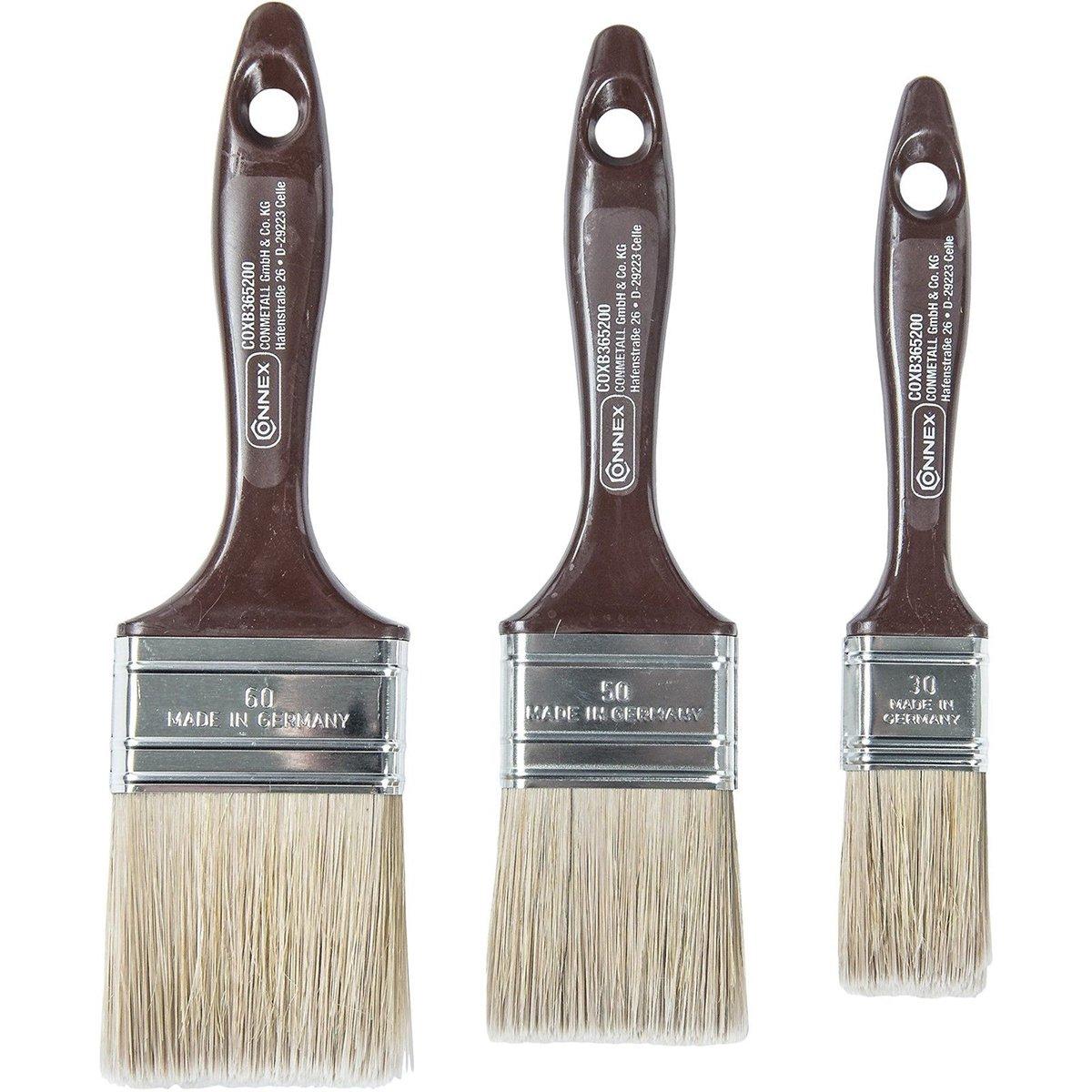 Connex Flachpinselset Lasur, 3 Stü ck, COXB365200